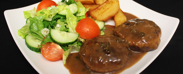 Hunter's meatballs (venison) in peppercorn sauce