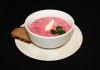 Cold summer borscht