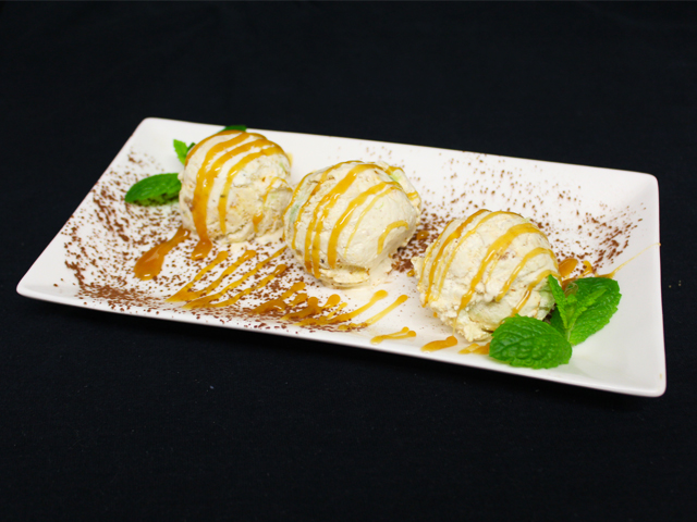 Chef's own nougat ice-cream
